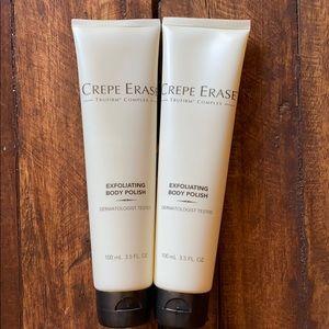 2 tubes of CREPE ERASE exfoliating body polish